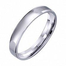 Обручальное кольцо из белого золота Мир чувств