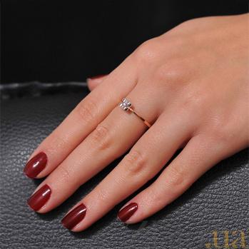 Золотое кольцо  с бриллиантом  Невесомость EDM--КД7501
