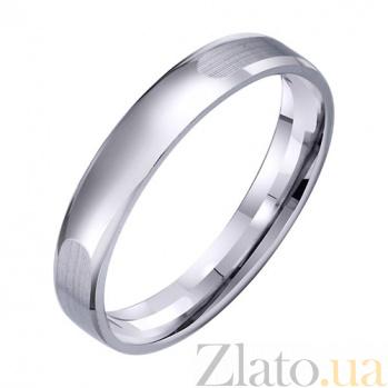 Обручальное кольцо из белого золота Мир чувств TRF--4211328