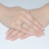 Кольцо из белого золота Любовь