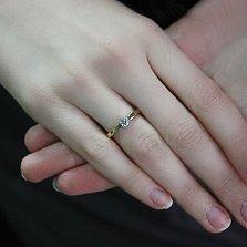 Кольцо в красном золоте Лидия с фианитом