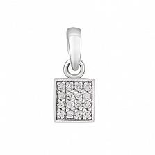 Золотой подвес Аманда с бриллиантами