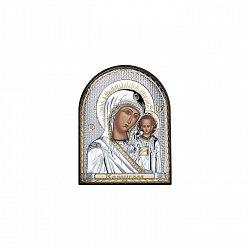 Серебряная икона Божья Матерь Казанская 000014137