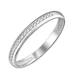 Кольцо из белого золота с бриллиантами и родированием 000124905