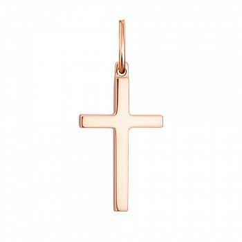 Крестик из красного золота 000134187
