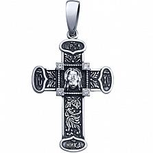 Серебряный крестик Светлый лик