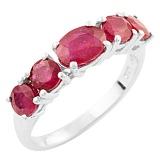 Серебряное кольцо Наира с рубинами