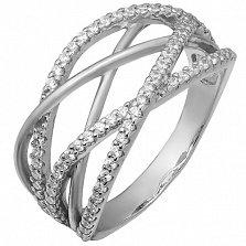 Серебряное кольцо с фианитами Брайди