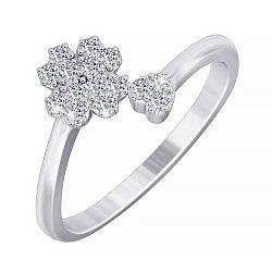 Серебряное фаланговое кольцо Клевер 000035141
