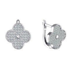 Серебряные серьги с фианитами 000070846