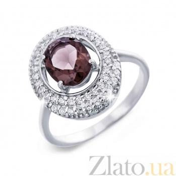 Женское серебряное кольцо с раухтопазом Мелоди AQA--R00812RT