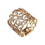 Золотое кольцо с бриллиантами Импровизация