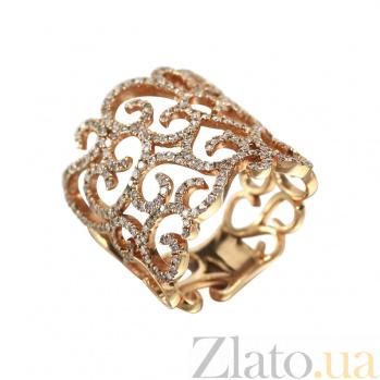 Золотое кольцо с бриллиантами Импровизация 000027289