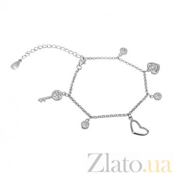 Серебряный браслет с цирконием Стелла 000025899
