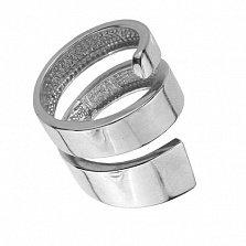 Серебряное кольцо Тандем