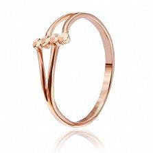Серебряное кольцо Муза с позолотой