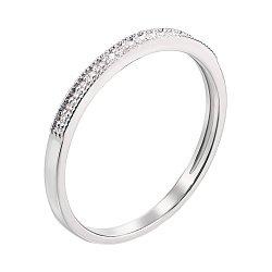 Кольцо в белом золоте с бриллиантами 000106185