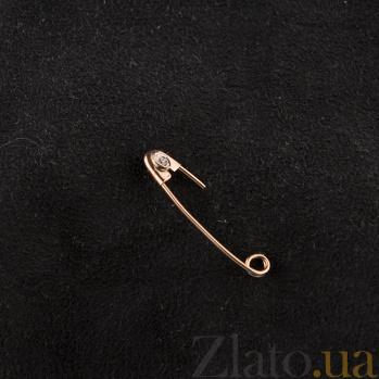 Золотая булавка с одним цирконием Секрет EDM--БЛ003/5