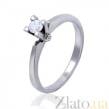 Кольцо из белого золота с фианитом Воодушевление EDM--КД0453/1