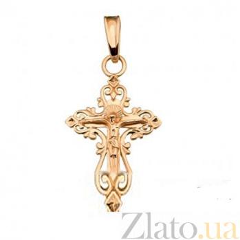 Золотой крестик Образ Христа SUF--501353