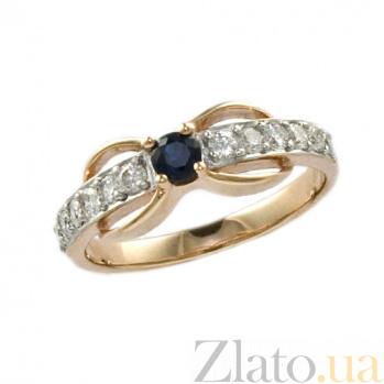 Золотое кольцо с сапфиром и бриллиантами Эмилиэна ZMX--RS-6504_K