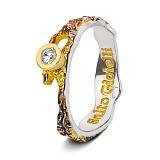 Серебряное кольцо с позолотой и чернением Иллирия