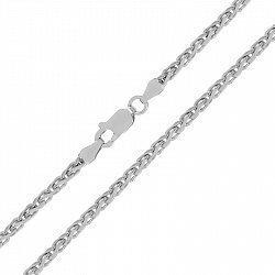 Серебряная цепь с родием, 2 мм 000025981