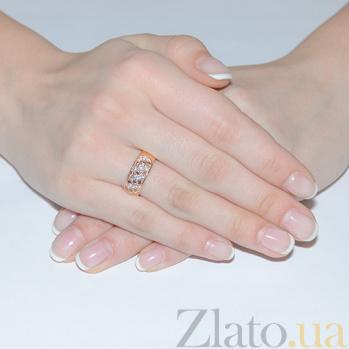 Золотое кольцо с фианитами Луиза EDM--КД045К