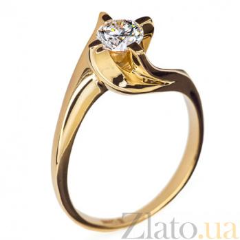 Золотое кольцо с бриллиантом Грета R 0569