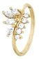Серебряное кольцо с фианитами Лиллиас 000025664