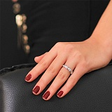 Кольцо из белого золота с бриллиантами Ровена