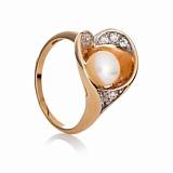 Золотое кольцо с жемчугом Марина