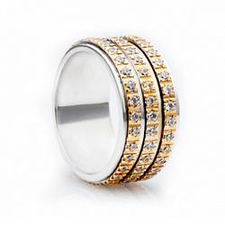 Обручальное золотое кольцо Изобилие