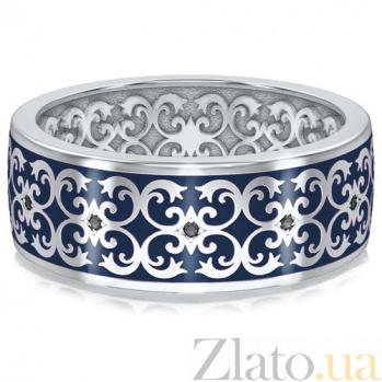 Мужское обручальное кольцо из белого золота Калейдоскоп Любви: В ожидании Чуда 3433