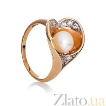 Золотое кольцо с жемчугом Марина 000029986