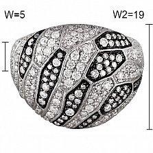 Кольцо из белого золота Шарлина с бриллиантами