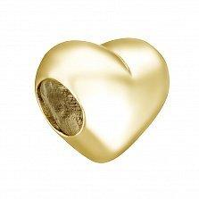 Подвес-шарм Сердце в желтом золоте