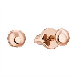 Золотые серьги-пуссеты Кнопки, Ø3,5мм