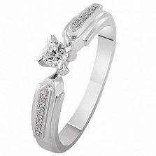 Кольцо из белого золота с бриллиантами Моя страсть