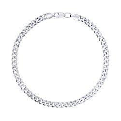 Серебряный браслет в панцирном плетении, 4мм 000123573