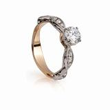 Золотое кольцо с цирконием Лидия