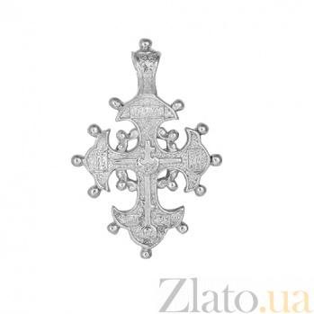 Серебряный крестик Торжество веры 000028494