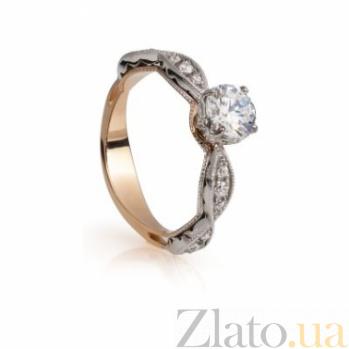 Золотое кольцо с цирконием Лидия 000030599