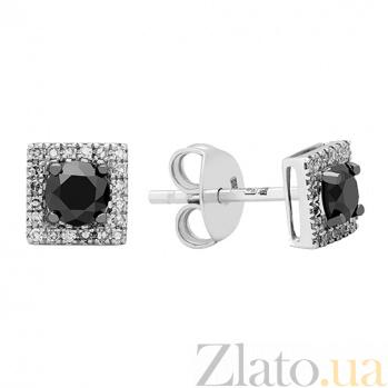 Золотые серьги с бриллиантами Жанетт 1С551-0319