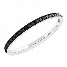 Золотое кольцо с черными бриллиантами Ночной сон