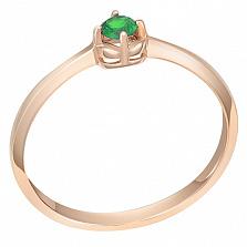 Золотое кольцо Аннет с изумрудом