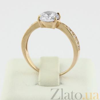 Золотое кольцо с цирконием Беатрис VLN--212-778