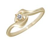 Кольцо из желтого золота Аврора с бриллиантом