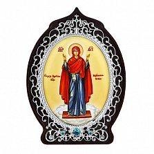 Серебряная икона Божьей Матери Нерушимая стена
