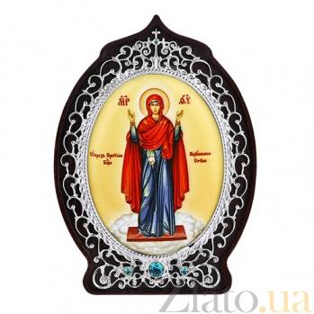 Серебряная икона Божьей Матери Нерушимая стена 2.78.0576